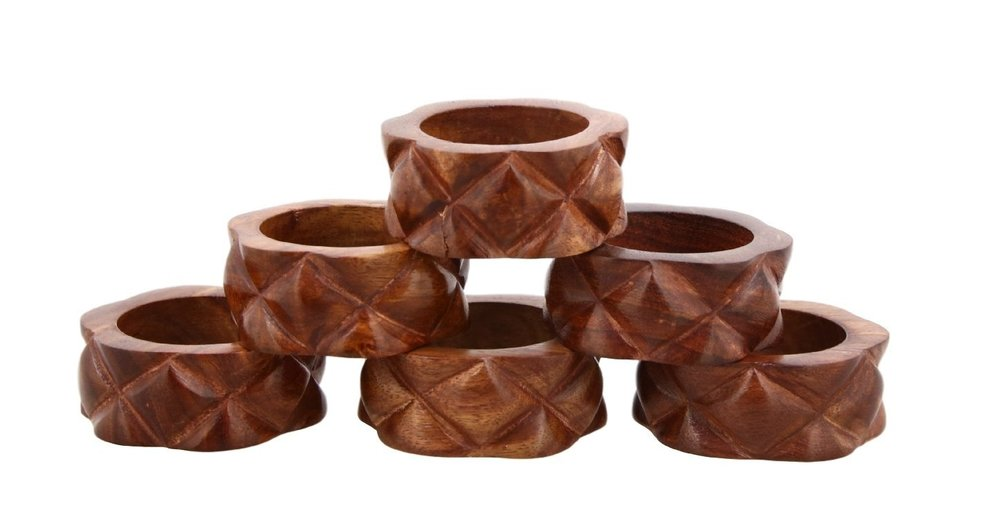 Handmade wood napkin rings - $12.29