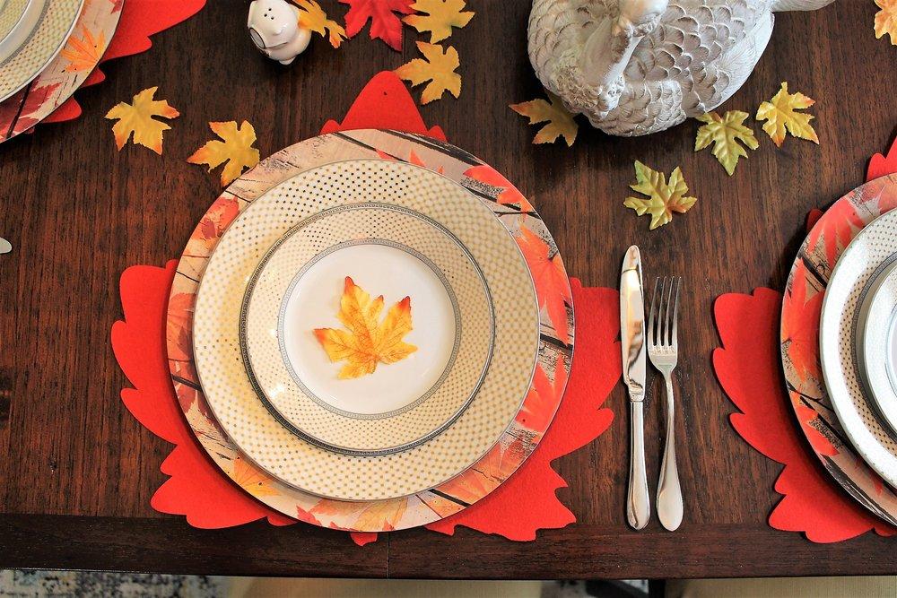 Dollar Tree Thanksgiving Placemats