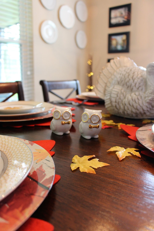 Thanksgiving Owl salt & pepper shakers