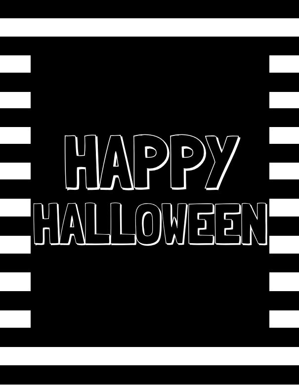 Happy Halloween in Black & White 1