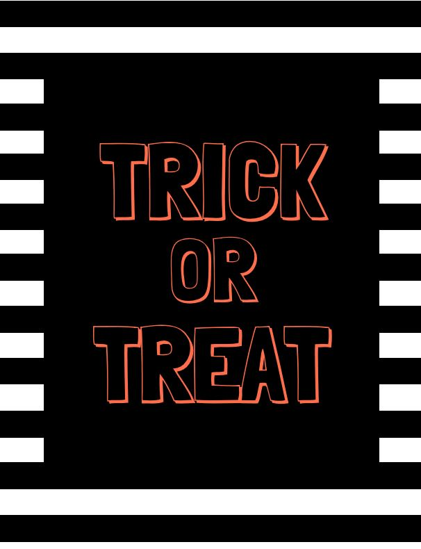 Trick or Treat - Orange Outline