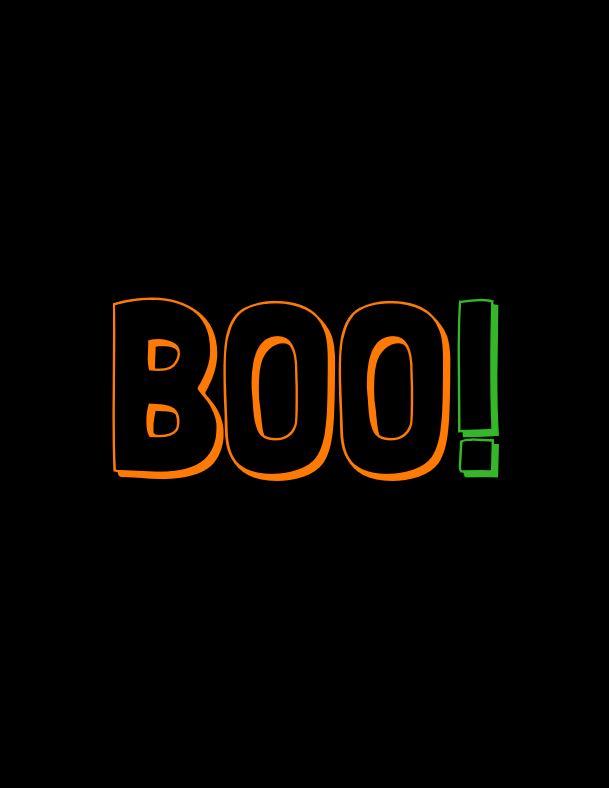 Boo! Orange