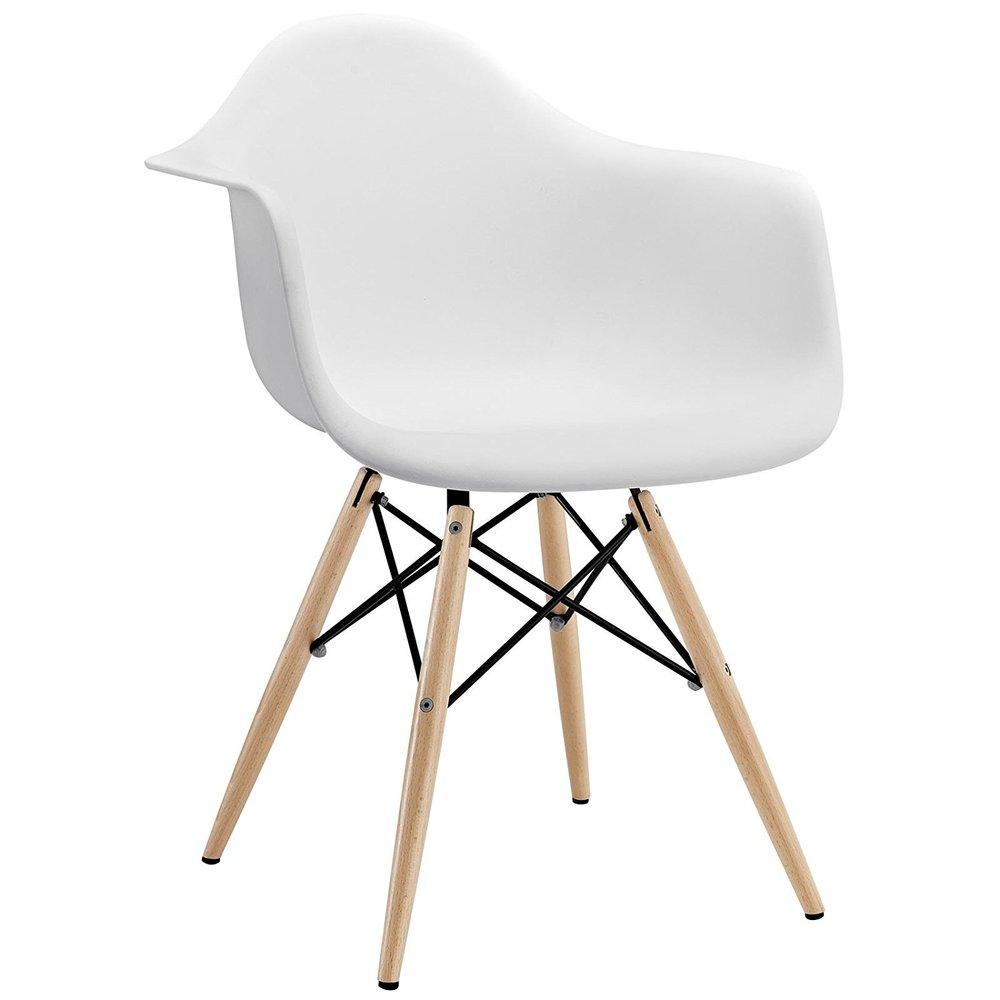 white wood pyramid chair