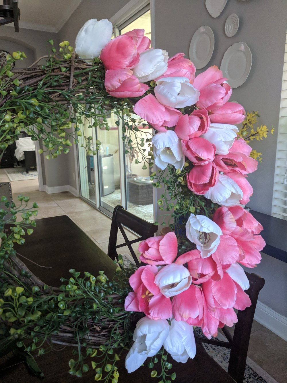 Tulip wreath - House by the Preserve