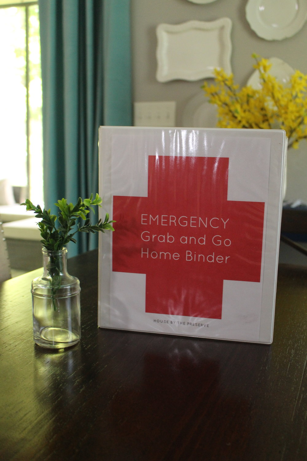 Emergency grab & go home binder - House by the Preserve