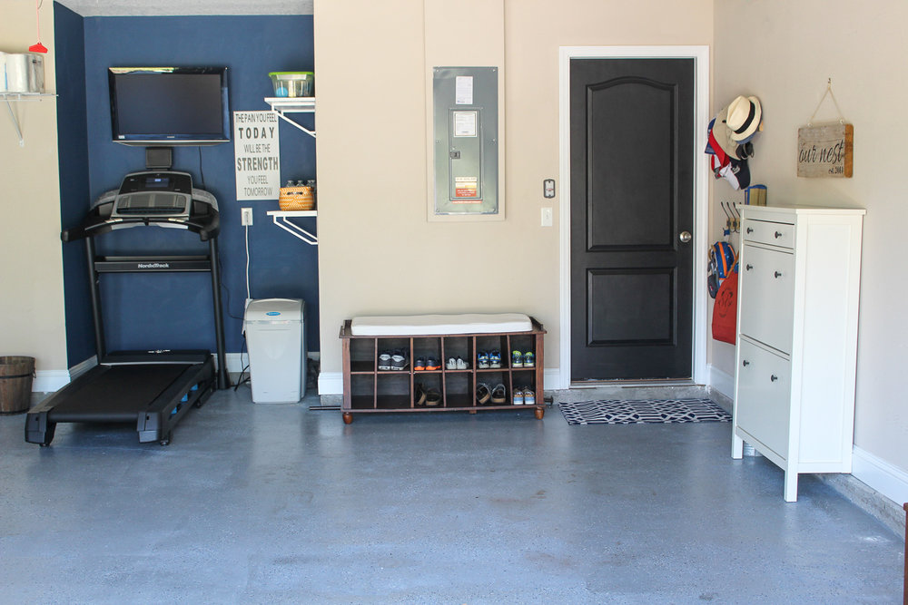 """I """"decorate"""" my garage to make it feel like just another room in our home."""