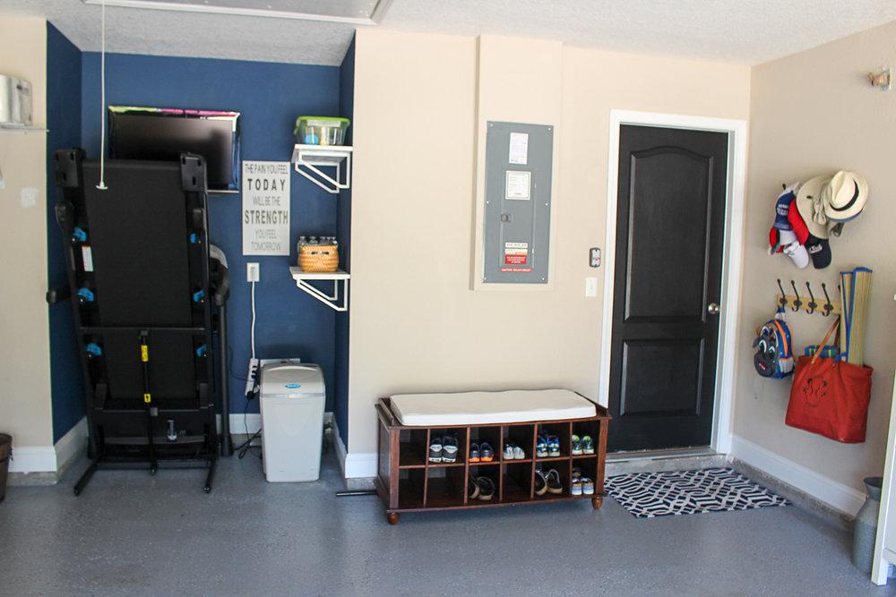 Garage workout area + garage entry organization.jpg
