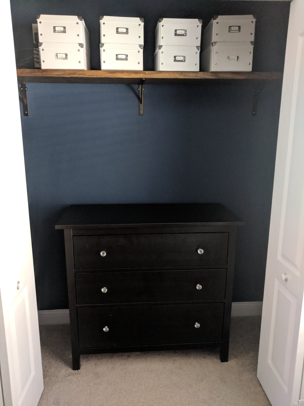 fitting a dresser in a closet