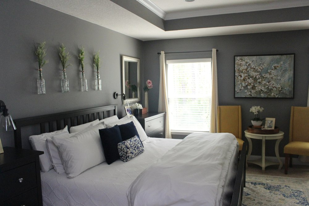 a simple master bedroom winter refresh on a budget house by the rh housebythepreserve com simple master bedroom decorating ideas simple master bedroom decor