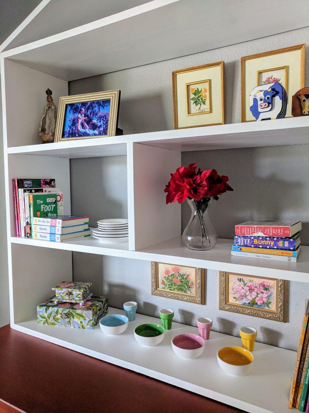 nursery shelves DIY