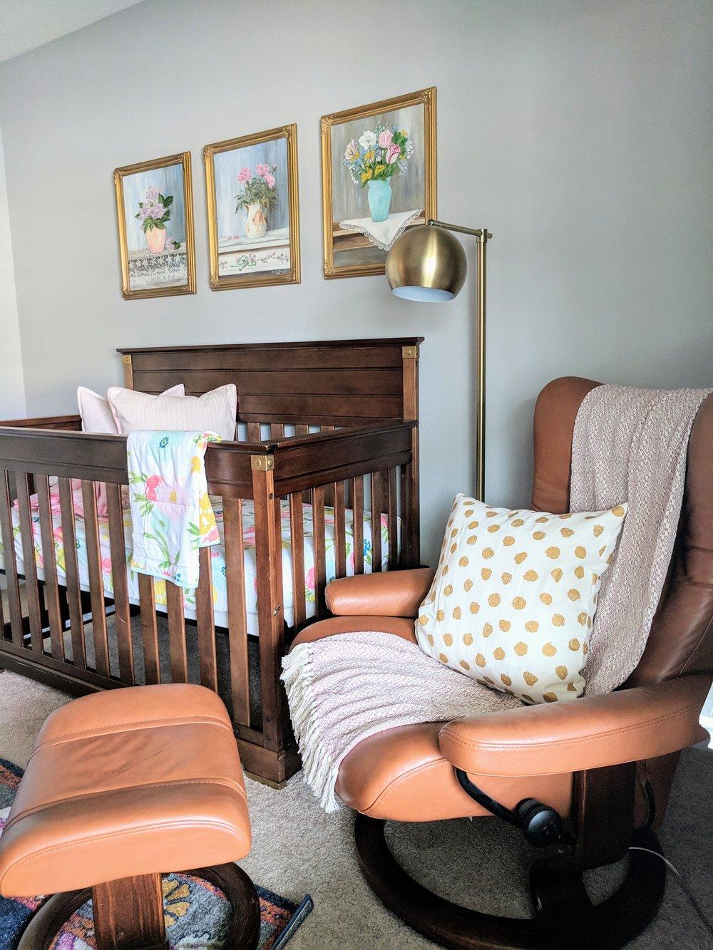 re-purposing a boy crib for a girl