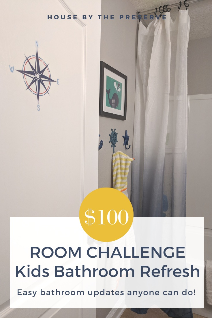 This week for the $100 Room Challenge, I've decided to focus on those small projects that can take a bathroom transformation from drab to fab! Read on to see everything that I was able to accomplish this week and check out some of these easy updates that anyone can do to update your own space! #bathroom #bathroomupdates #DIYbathroom #housebythepreserve