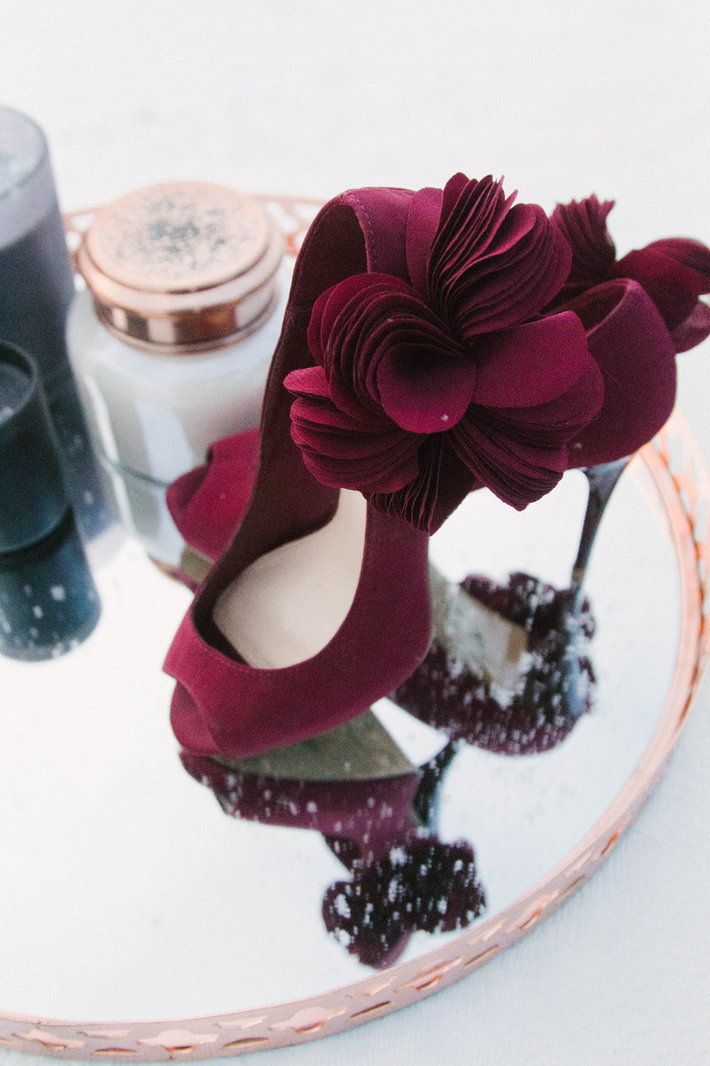 Wouldn't these red beauties make a great statement shoe on your wedding day??