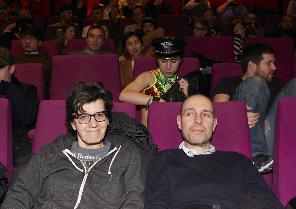 Queer|Art|Mentorship   Mentor   Moe Angelos at the 2016 screening of  Slaves of New York. ( Photo by Eric McNatt)