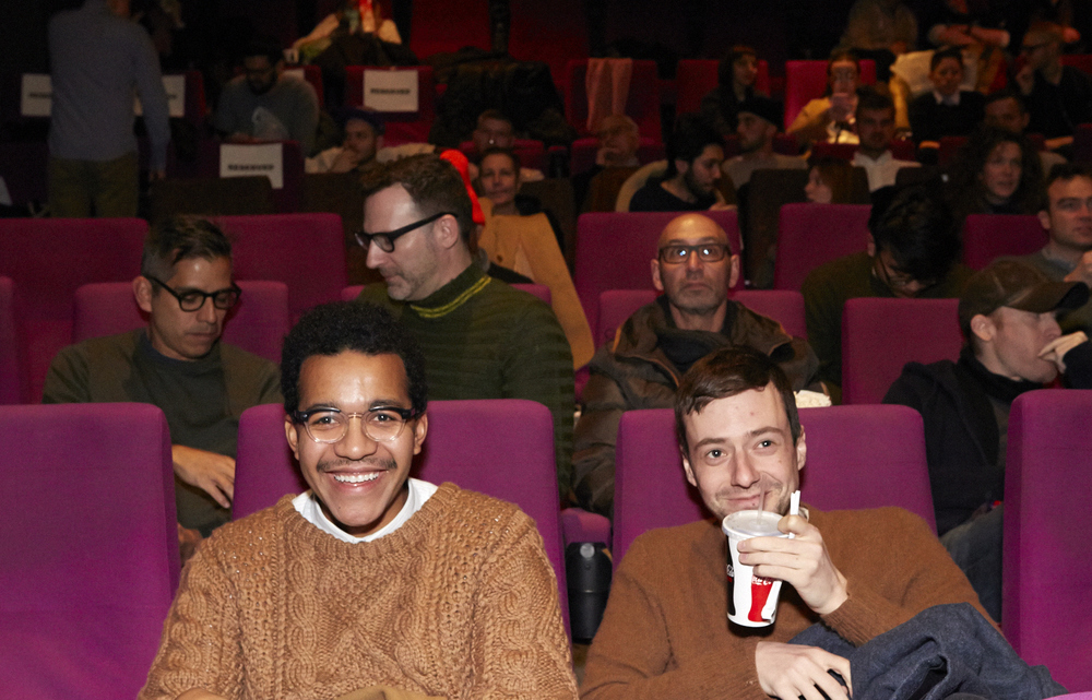 Queer|Art|Mentorship Fellow Troy Michie at the January 2016 screening of  Slaves of New York.  (Photo by Eric McNatt)