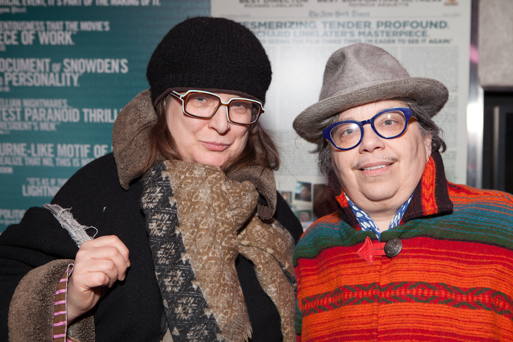 Queer|Art|Mentorship Mentor Carrie Moyer and partner Sheila Pepe at the February 2015   screening of  A Litany for Survival: The Life and Work of Audre Lorde.  (Photo by Ryan Morris)