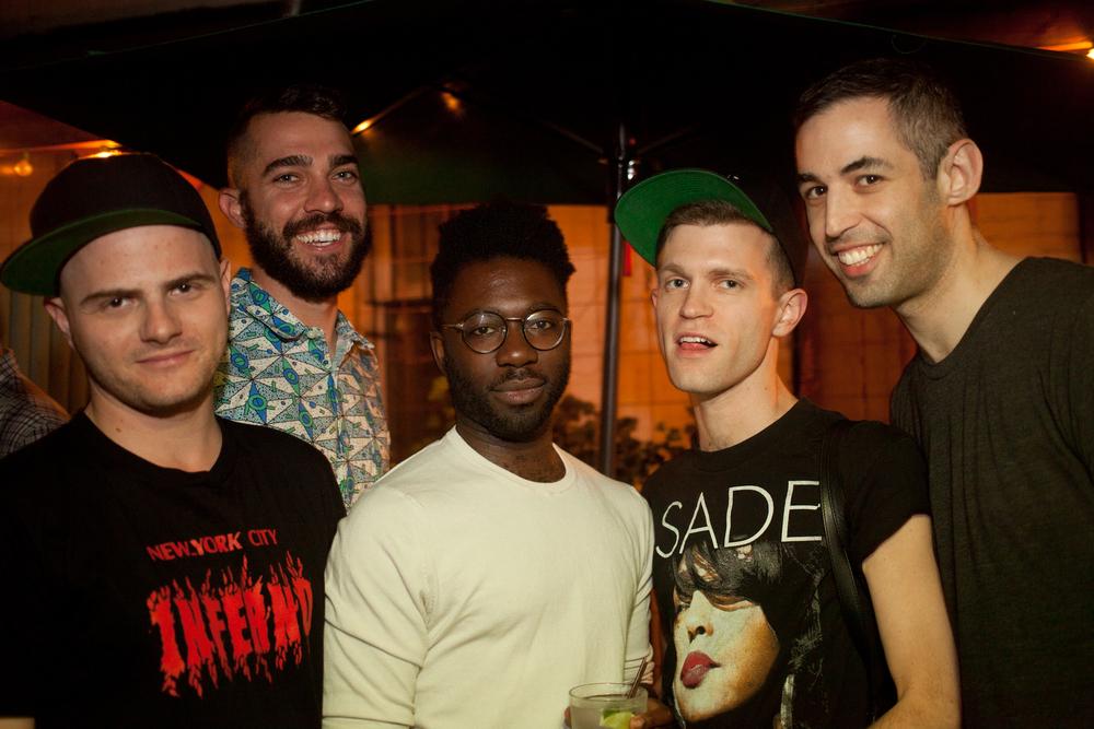 Bradford Nordeen, Alex Fialho, Paul Mpagi Sepuya, Sam McKinness and Adam Baran.June 2014.(Photo by Ryan Morris)