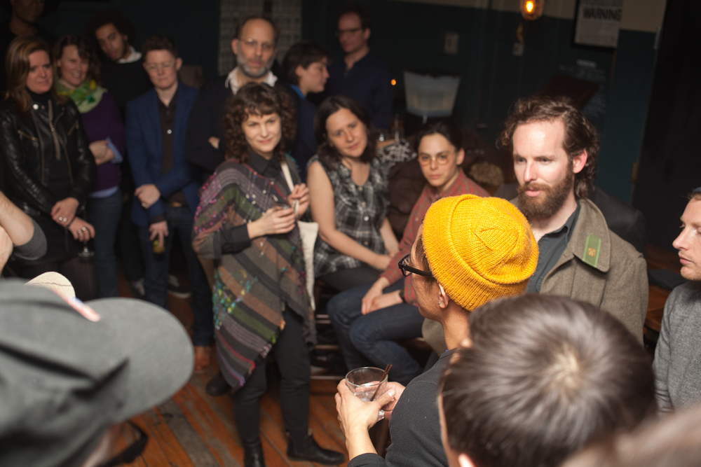 QUEER | ART | BROOKLYN   event. February 2014. Photo by Ryan Morris.