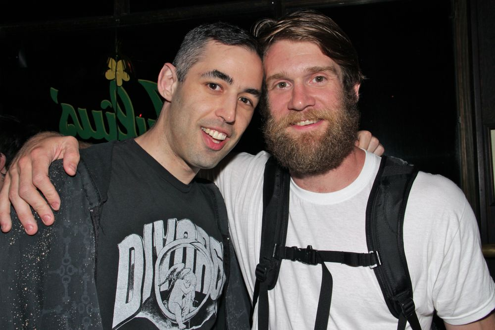 Co-curator Adam Baran and Colby Keller at the June 2014 screening of  Suddenly, Last Summer.  (Photo by Richard Davis)