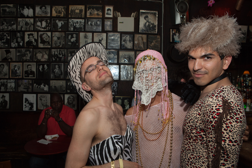 Friends of Queer|Art|Film at Julius' after the May 2014 screening of  OUTRAGEOUS! . (Photo by Ryan Morris)
