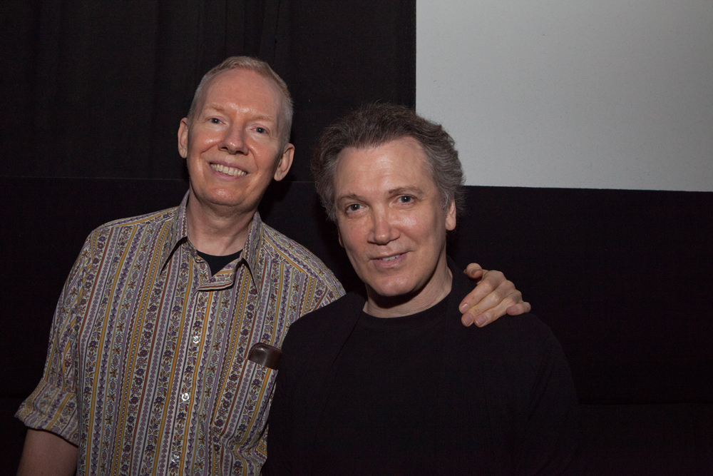 Queer|Art|Film presenter John Epperson with Charles Busch at the May 2014 screening of  OUTRAGEOUS! . (Photo by Ryan Morris)