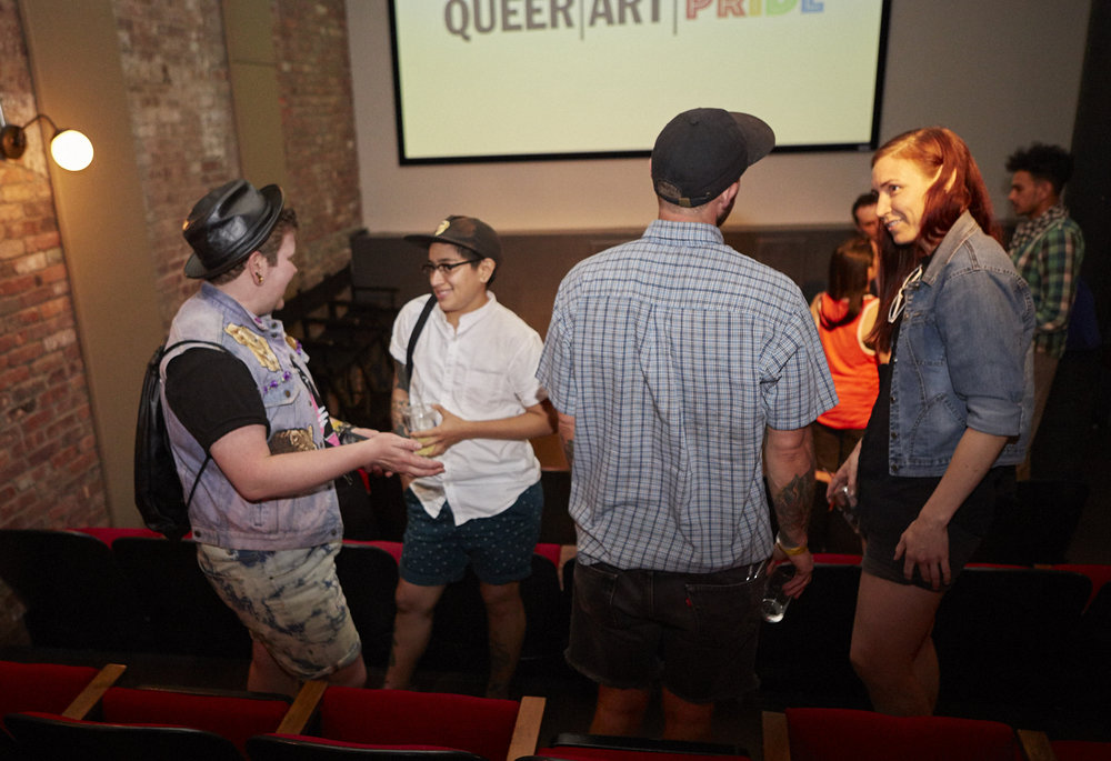 Copy of QAM Alumni Shorts Screening for Queer|Art|Pride at Wythe Hotel, June 2017. (Photo by Eric McNatt)