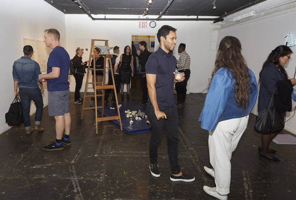 Ashton Cooper and Rodrigo Moreira at Opening Reception of QAM 2016-2017 Annual Exhibition (Photo by Eric McNatt)