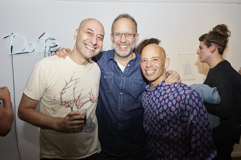Neil Goldberg, Ira Sachs, and Arthur Aviles at Opening Reception of QAM 2016-2017 Annual Exhibition (Photo by Eric McNatt)