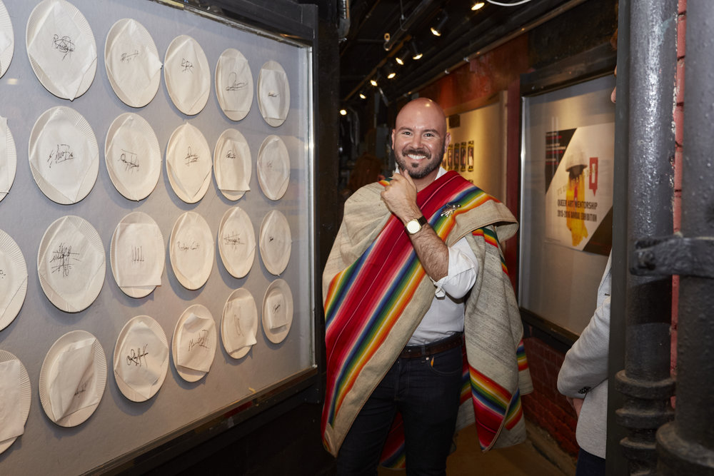 Rodrigo Bellott at Opening Reception of QAM 2015-2016 Annual Exhibition (Photo by Eric McNatt)