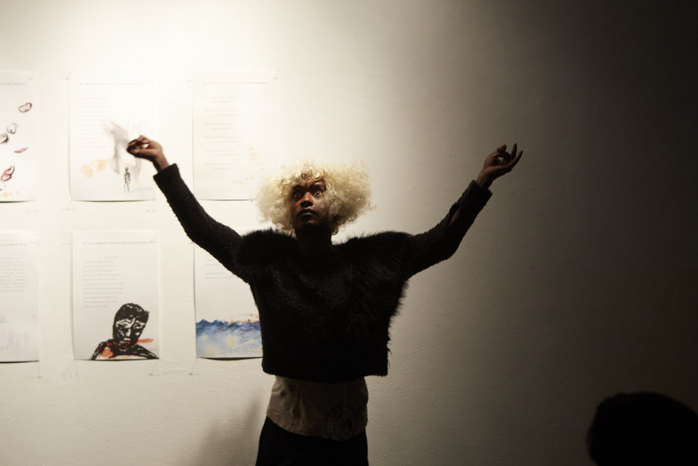 Fellow Monstah Black Performance at Live Event of QAM 2015-2016 Annual Exhibition (Photo by Eric McNatt)