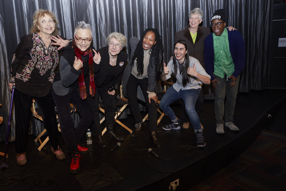 Carolee Scheenman, Barbara Hammer, Martha Rosler, Fair Brane, Su Friedrich, and Cheryl Dunye (Photo by Eric McNatt)