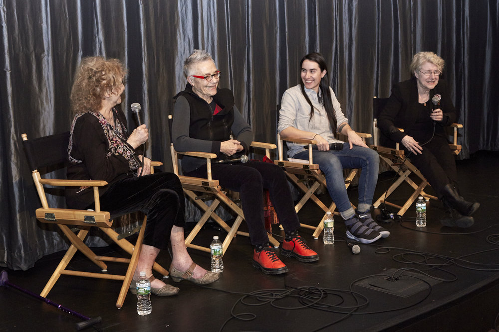 Carolee Scheenman, Barbara Hammer, Vanessa Haroutunian, and Martha Rosler (Photo by Eric McNatt)