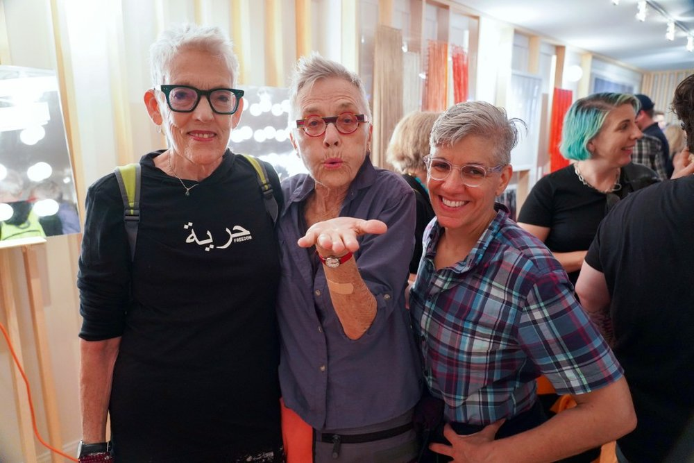 Above:  Florrie Burke, Barbara Hammer, and Laura Teodosio  by The Gathery