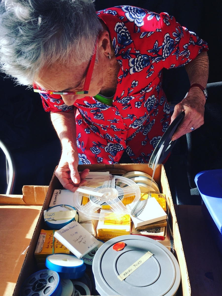 Barbara Hammer sorting through her archive by Vanessa Haroutunian