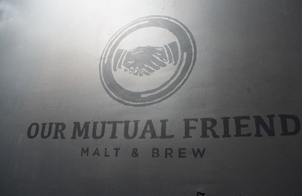 Our Mutual Friend Malt & Brew Logo
