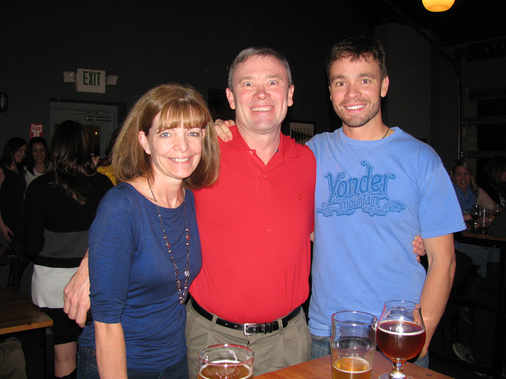 Barb Peterson, Rick Peterson, Justin Peterson at Dynam Novel Launch Party Denver Colorado