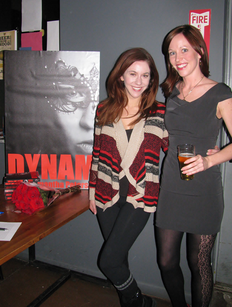 Jaime Palmucci & Samantha Peterson at Dynam Novel Launch, Our Mutual Friend Malt & Brew, Denver Colorado