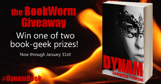 Bookworm Giveaway - DynamBook - Author Samantha Peterson