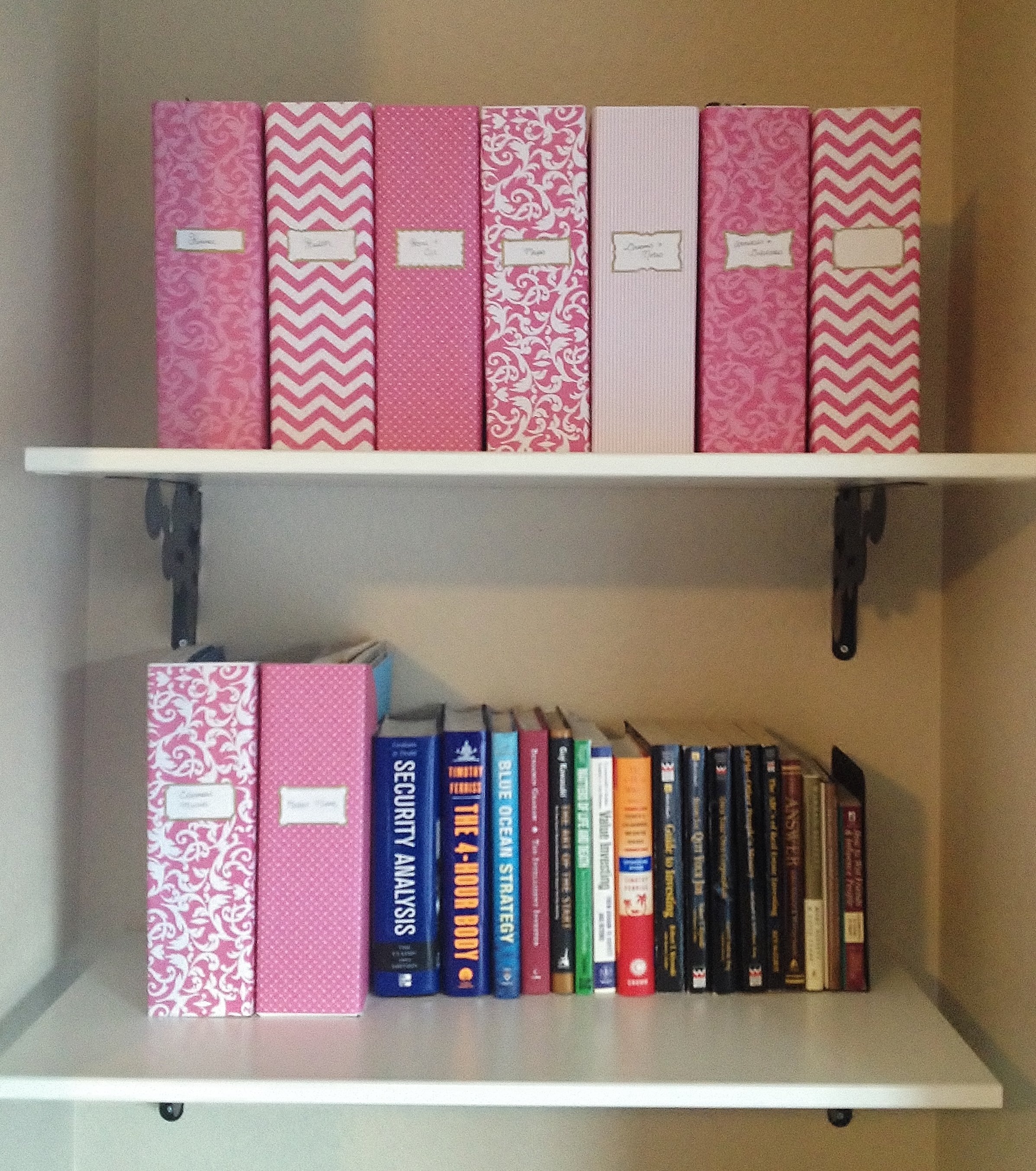Pink File Folder System