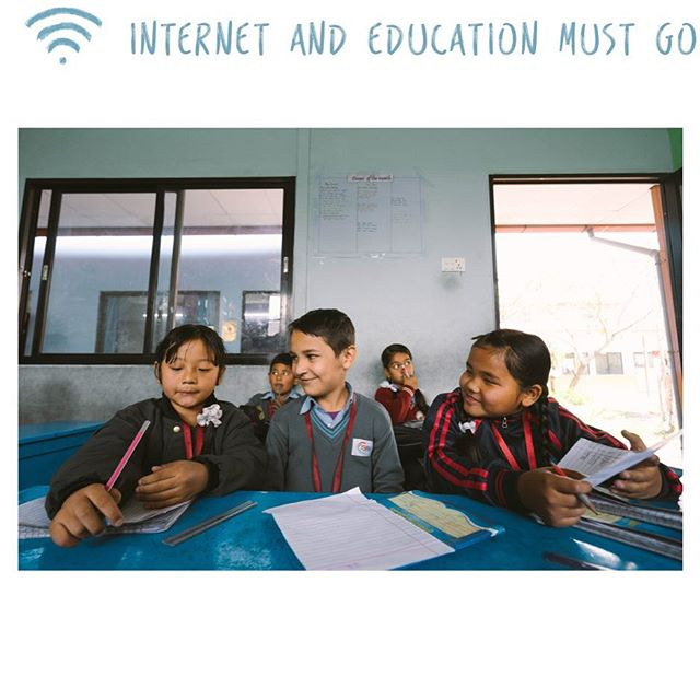 Having access to the internet will open a new world of opportunities for students in Nepal.
