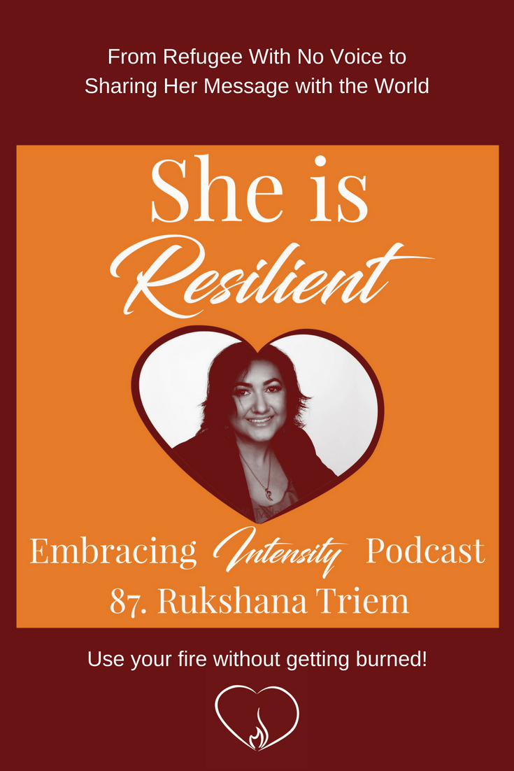 From Refugee With No Voice to Sharing Her Message with the World ~ Embracing Intensity Podcast