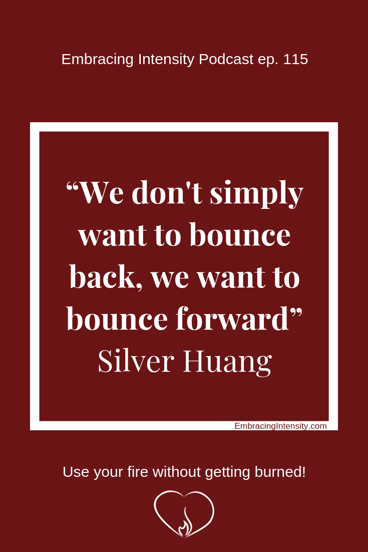 """We don't simply want to bounce back, we want to bounce forward"" ~ Silver Huang"