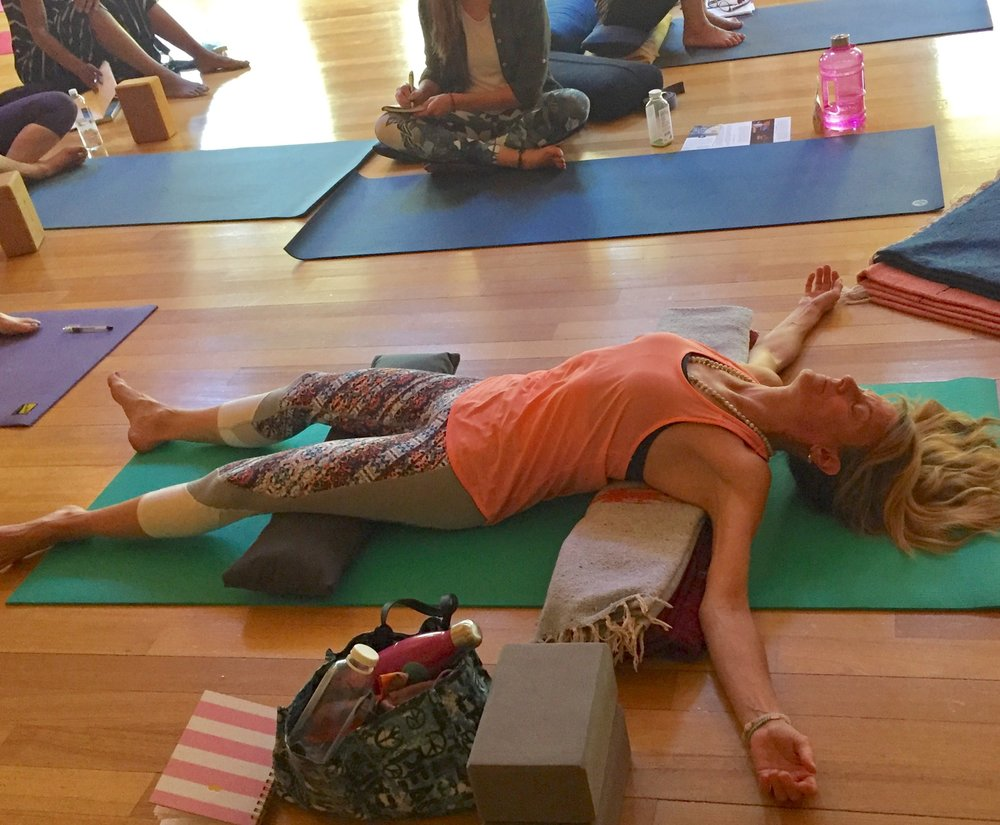 Pictured Yoga Teacher Michele Kilnk
