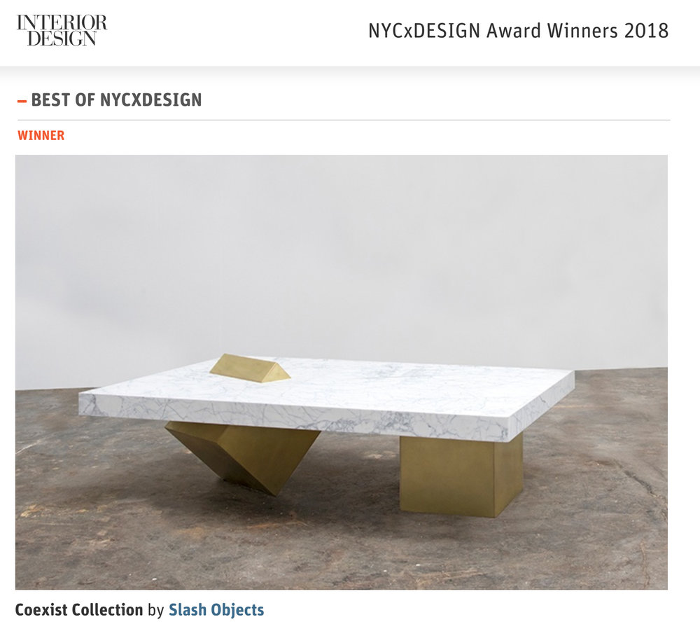 Slash Objects Wins Best of NYC x Design