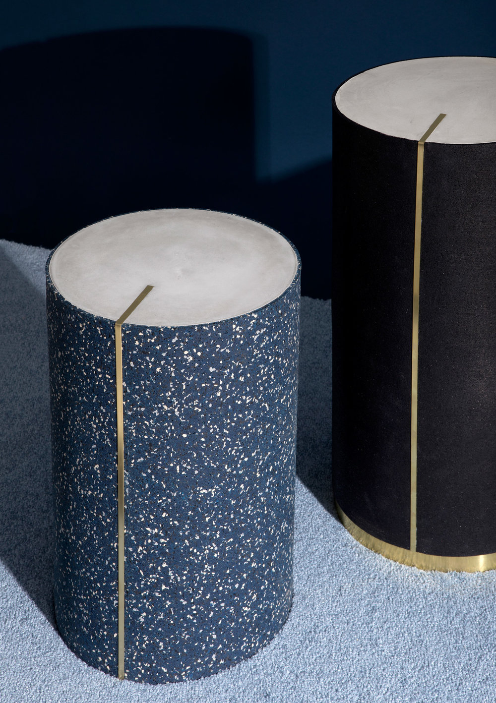 Slash Objects Rubber CYL Side Tables