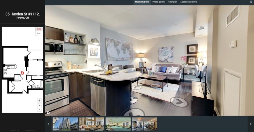 Interactive Virtual Walk-Through of 35 Hayden Street #1112