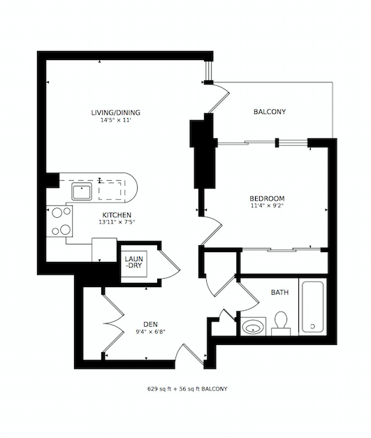 Floorplan of 35 Hayden Street #1112