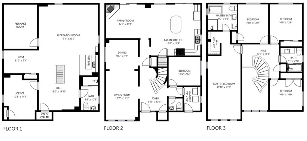Floorplan of 17 Caldbeck Avenue
