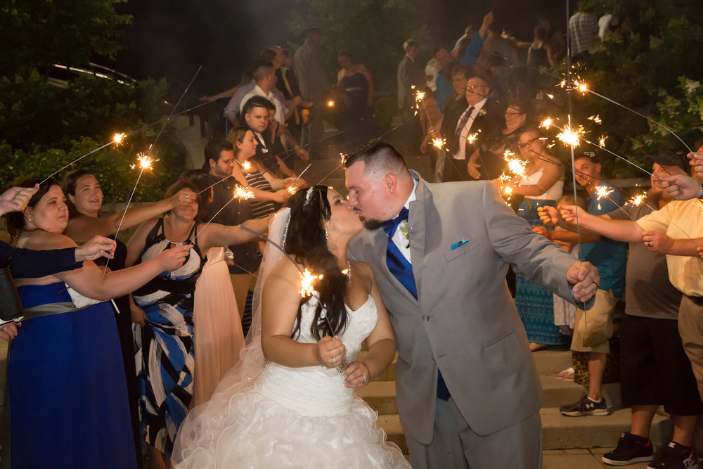 Love the sparkler exit!!