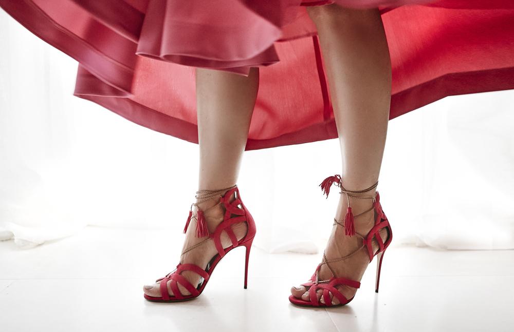 Aquazzura Mirage Heel and TY-LR Skirt